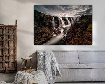 kolugljúfur canyon in ijsland van Michael Bollen