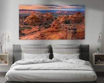 Zonsondergang South Coyote Buttes, Arizona, USA