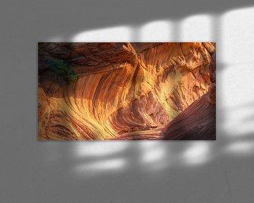 Zonsondergang South Coyote Buttes, Arizona, USA van Henk Meijer Photography
