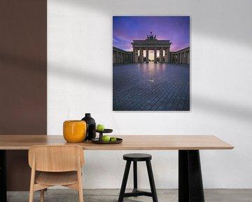 Berlijn Brandenburger Tor bij zonsondergang van Jean Claude Castor