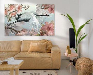 Japanese Crane van Marja van den Hurk