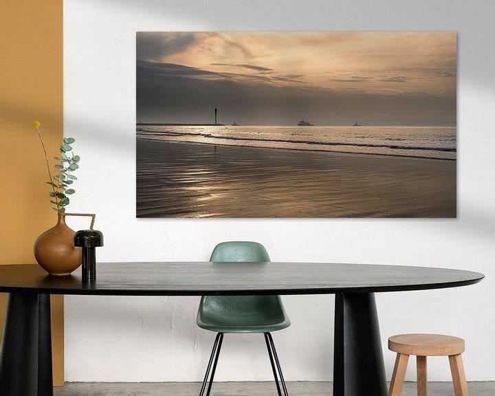 Sfeerimpressie: 1032 Ostend Harbor II van Adrien Hendrickx