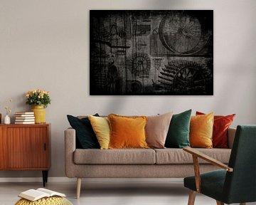Abstract: industriële waterraderen van Veerle Van den Langenbergh