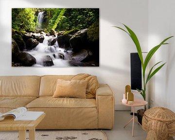 Wasserfall im Regenwald von Panama