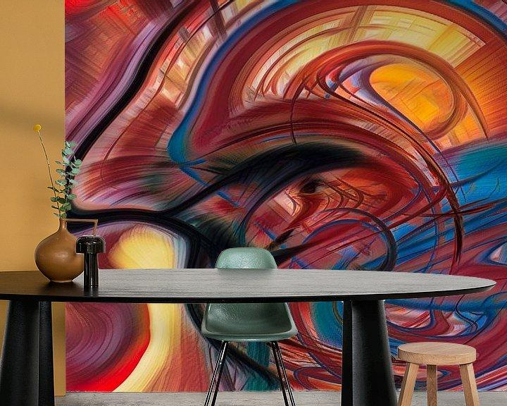 Sfeerimpressie behang: Digitale kunst nr. 3 van Leo Luijten