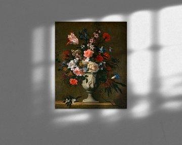 Blumen in einer klassischen Vase, französisch 17. Jahrhundert