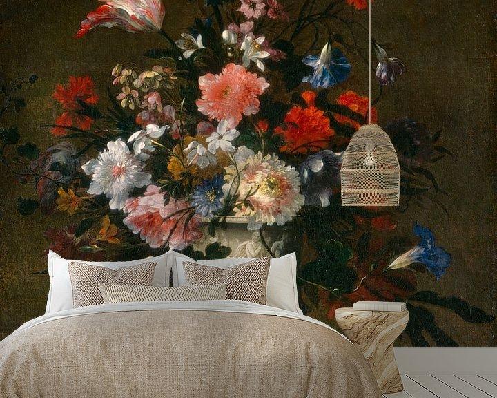 Beispiel fototapete: Blumen in einer klassischen Vase, französisch 17. Jahrhundert