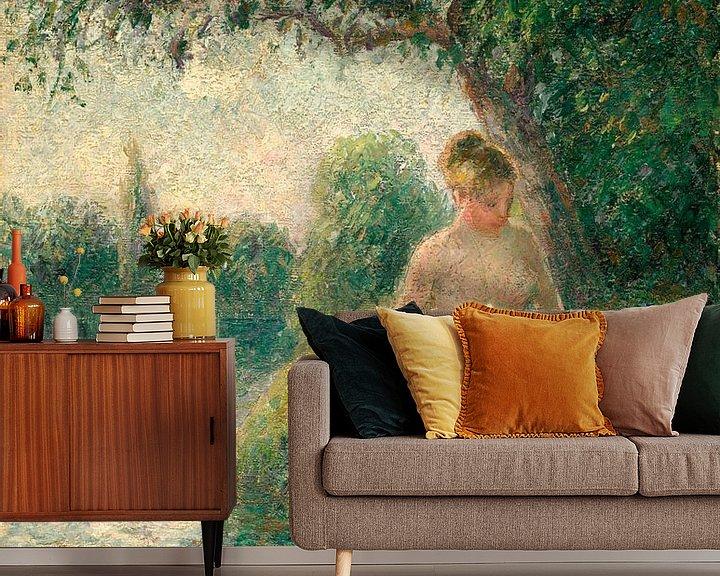 Beispiel fototapete: Der Badende, Camille Pissarro