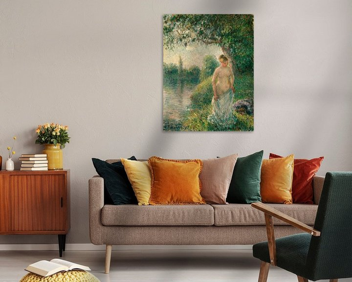 Beispiel: Der Badende, Camille Pissarro