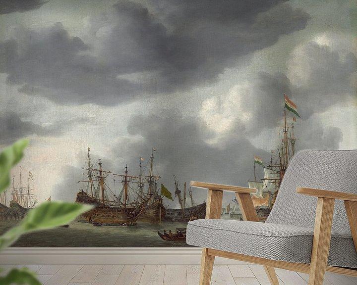 Beispiel fototapete: Amsterdamer Hafenszene, Reinier Nooms