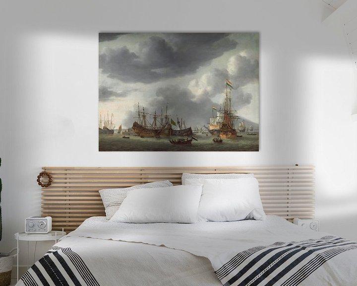 Beispiel: Amsterdamer Hafenszene, Reinier Nooms