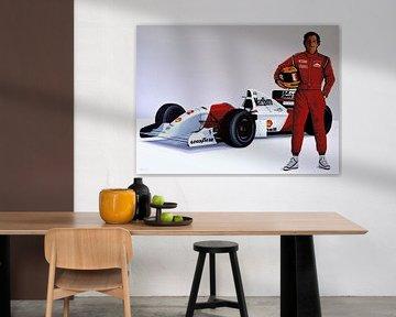 Ayrton Senna schilderij von Paul Meijering