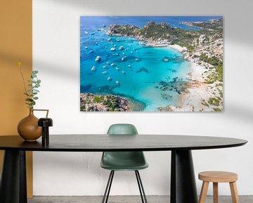 Zwevende boten bij de Maddalena eilanden, Sardinië