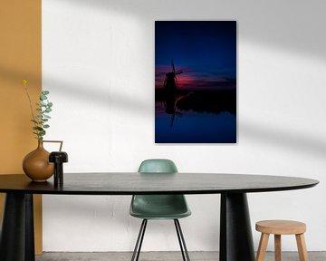 Hollandse windmolen. van AGAMI Photo Agency