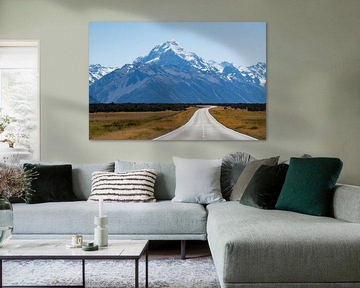 Sfeerimpressie: De weg naar Mount Cook van Ton de Koning