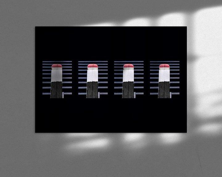 Beispiel: Schwarz-Weiß-Komposition mit Rot von Corrie Ruijer