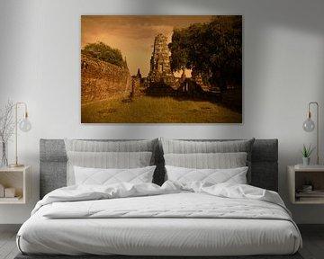Ruïne in Ayutthaya, Thailand van MM Imageworks