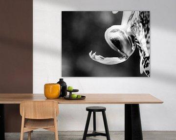 Bloem Orchidee Zwart Wit HDR Abstract Close-up Macro van Art By Dominic