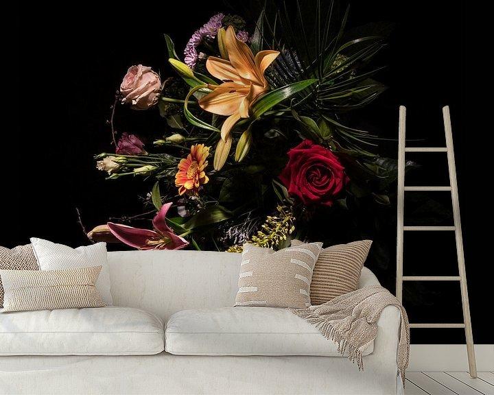 Beispiel fototapete: Stilleben mit Blumen von Bianca Neeleman