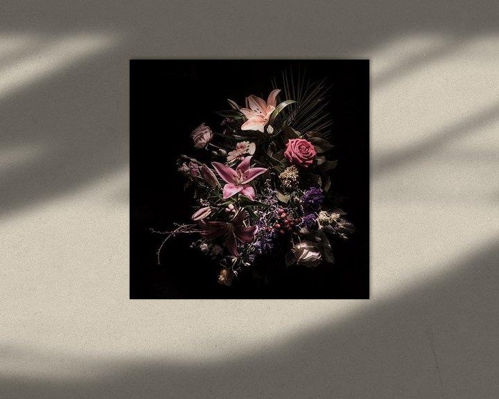 Beispiel: Stilleben mit Blumen in Rosatönen von Bianca Neeleman
