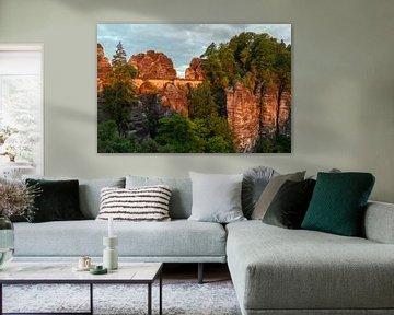 Sonnenaufgang in der Bastei von Heiko Lehmann
