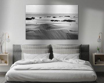 Dünen bei Maspalomas Vintage Schwarz-Weiß von Nick van Dijk