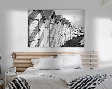 Strandhäuser im Hafen von Neapel von Chantal Koster