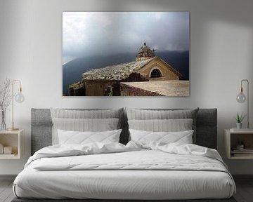 Ein nebliger Morgen in Ligurien von Angela Kieboom, van Erp