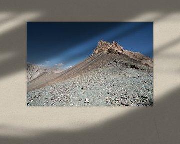 Top van bergpas naar Chatyr Kul van Mickéle Godderis