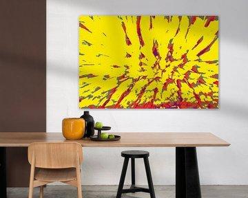 Wallpaper abstract flashy van Veerle Van den Langenbergh