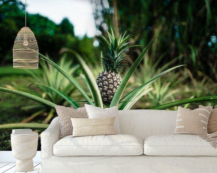 Sfeerimpressie behang: Hawaï-ananas van road to aloha