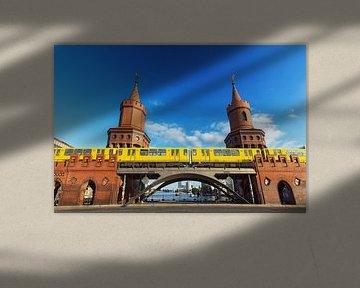 Oberbaumbrücke Berlin mit U-Bahn