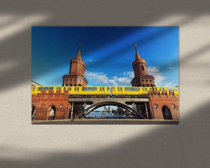 Impression: Oberbaumbrücke Berlin avec le métro sur Frank Herrmann