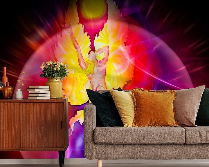Sfeerimpressie behang: Magisch licht en energie 4 van Walter Zettl