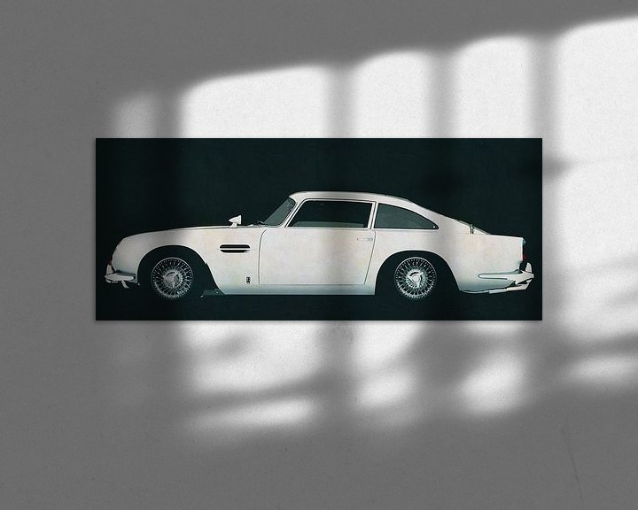 Sfeerimpressie: Aston Martin DB5 zijaanzicht van Jan Keteleer