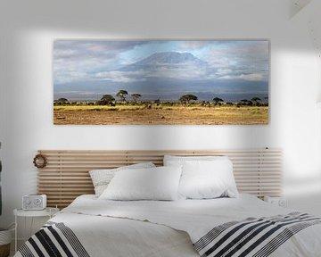 Einzigartige große XXL Amboseli Kenia-Ansicht von Roland Smeets
