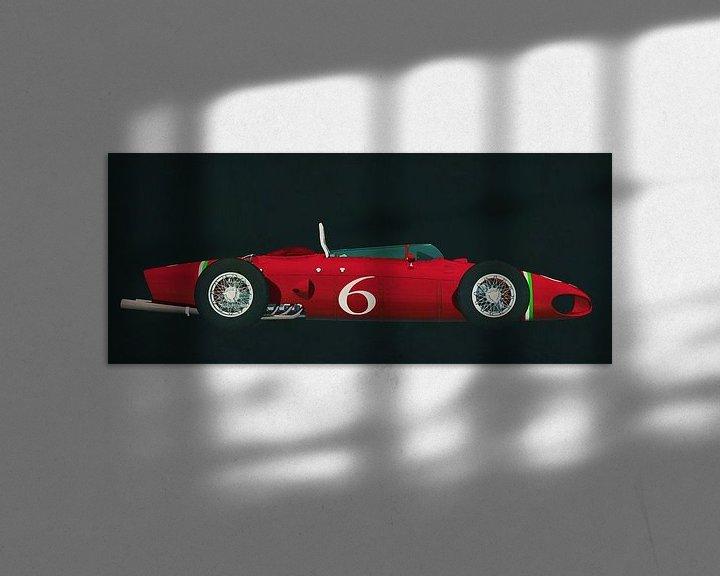 Beispiel: Ferrari 156 Haifisch-Nase 1961 Seitenansicht von Jan Keteleer