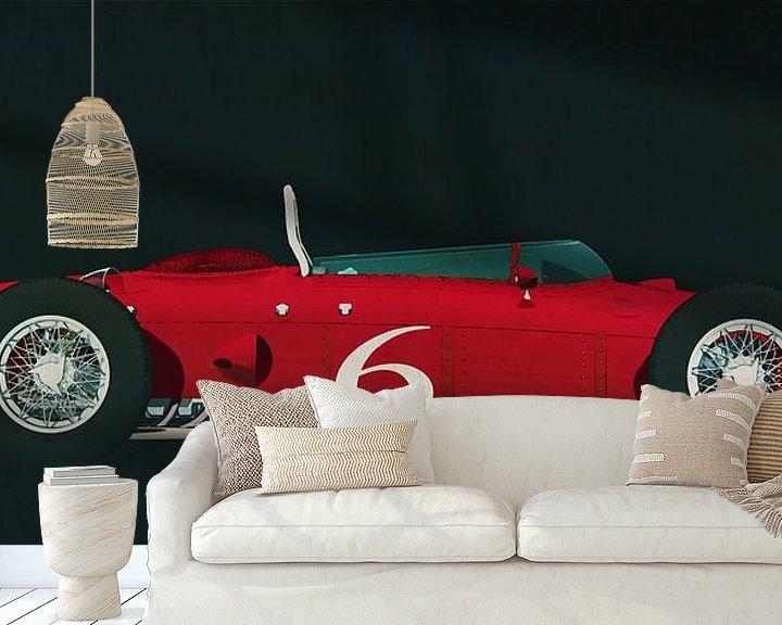 Beispiel fototapete: Ferrari 156 Haifisch-Nase 1961 Seitenansicht von Jan Keteleer