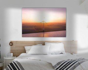 Windmolen zonsopgang urk