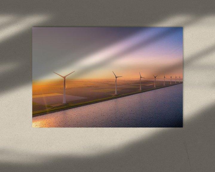 Sfeerimpressie: Windmolens urk van Thomas Bartelds