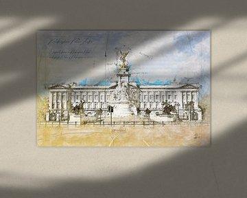 Buckingham Palace, Londen van Theodor Decker