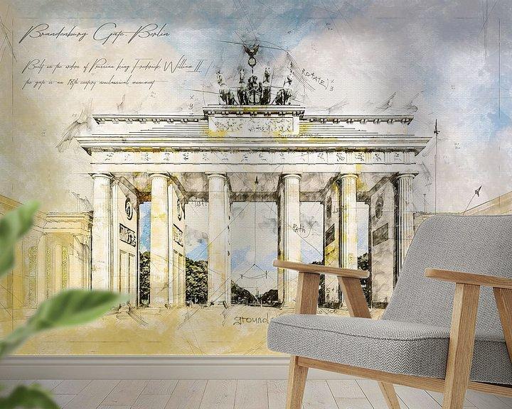 Beispiel fototapete: Brandenburger Tor,  Berlin von Theodor Decker