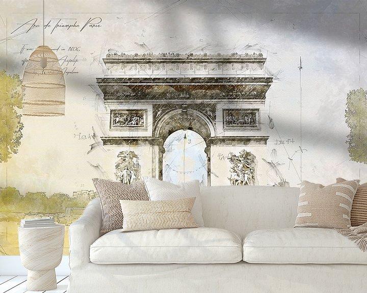 Beispiel fototapete: Arc de Triomphe, Paris von Theodor Decker