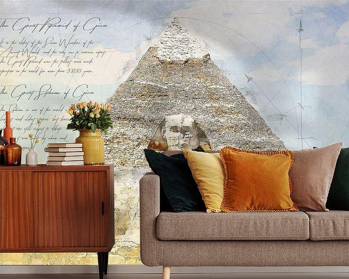 Beispiel fototapete: Große Sphinx von Gizeh + Sphinx,  Ägypten von Theodor Decker