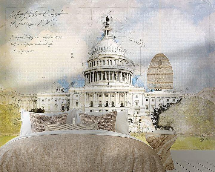 Beispiel fototapete: Capitol, Washington DC, USA von Theodor Decker