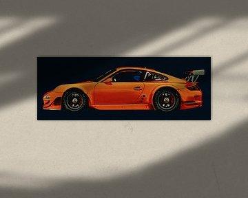 Porsche 997 GT3 RS CUP zijaanzicht