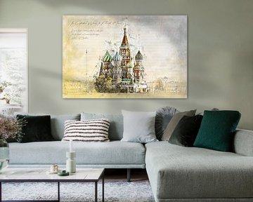 St. Basilskathedraal, Moskou van Theodor Decker