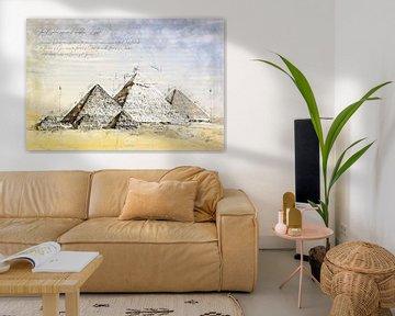 Piramides van Gizeh, Egypte van Theodor Decker