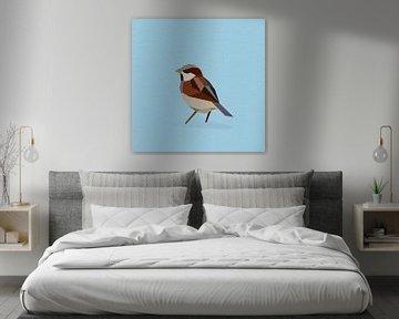 Haussperling (Vogel, Sperling, Polygon) von Color Square