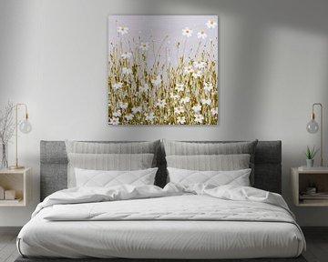 Gemälde Blumenfeld-Gänseblümchen von Bianca ter Riet